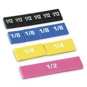 Rainbow Fraction® Soft Foam Magnetic Tiles