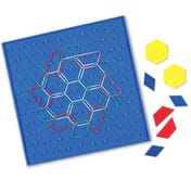 "10"" Isometric Grid Pattern Geoboard, 11 x 11 Pin"