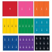 Double-Sided Magnetic Demonstration Rainbow Fraction® Squares