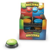 Lights & Sounds Answer Buzzers, Set of 12 in Display