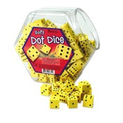 Soft Foam Dot Dice (Set of 200)