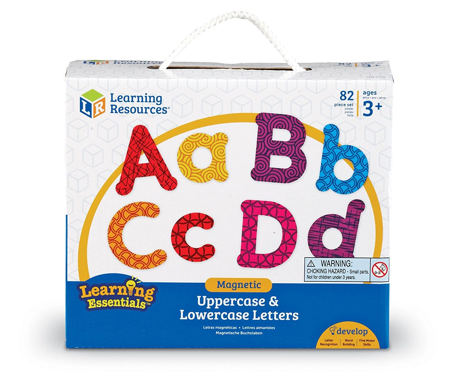 Learning Resources Magnetic Uppercase and Lowercase Letters LER7725