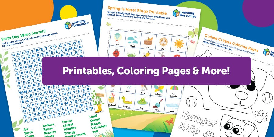 Printables, Coloring Pages & More!