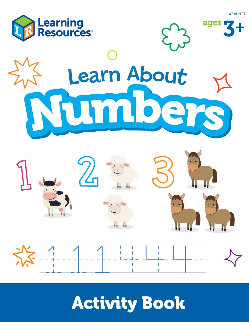 Learn About Numbers Activity Book