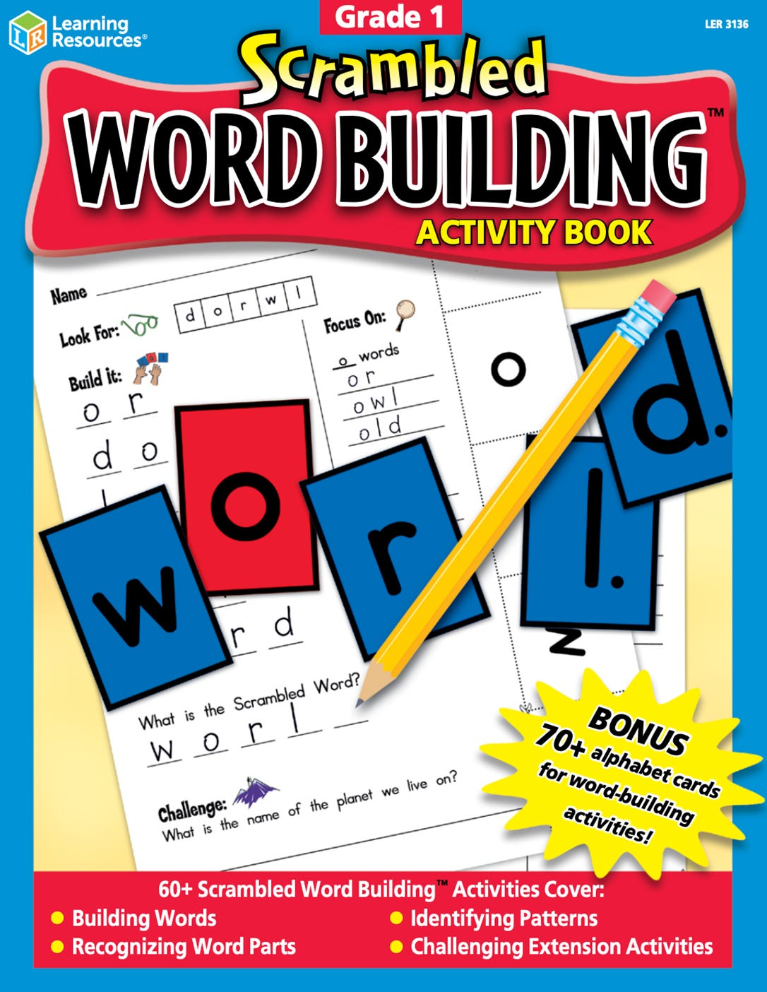 Scrambled Word Building Activity Book Grade 1