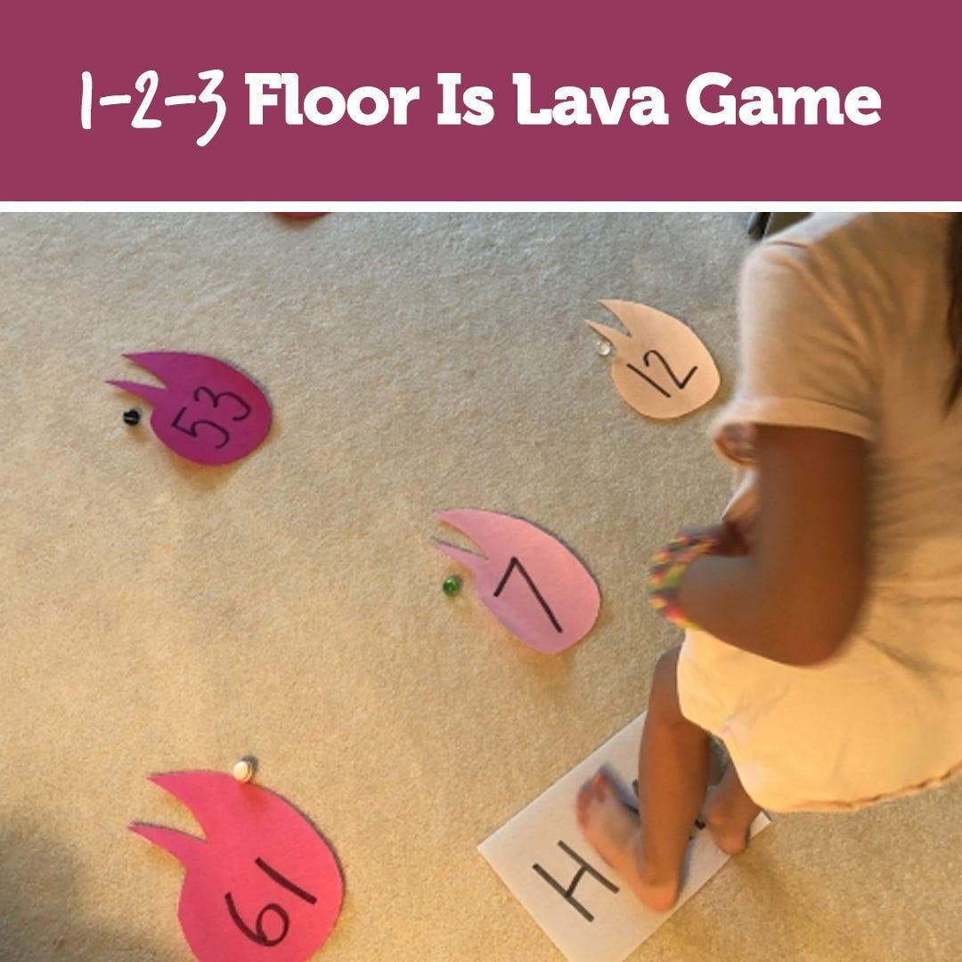 1-2-3 Floor Is Lava Game