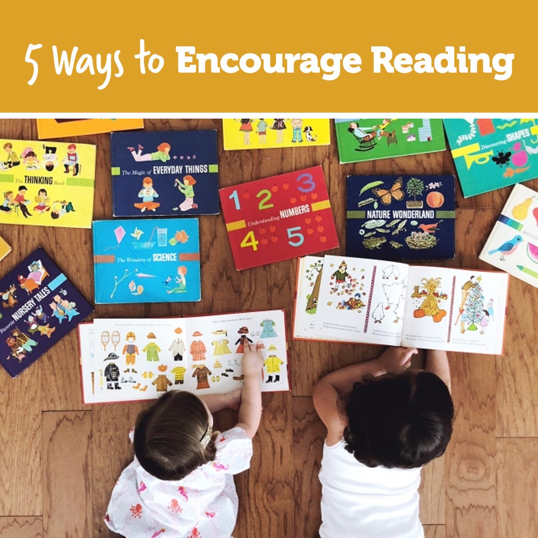 5 Ways to Encourage Reading