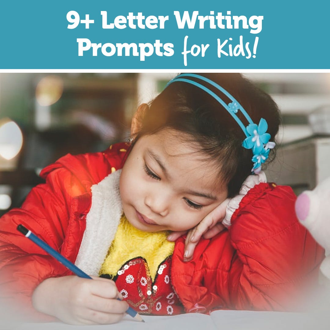 9+ Letter Writing Prompts for Kids!