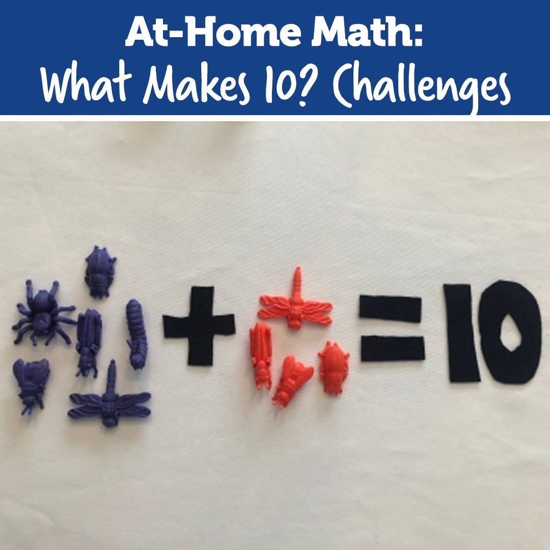 Stay At Home STEM: What Makes 10? Challenges