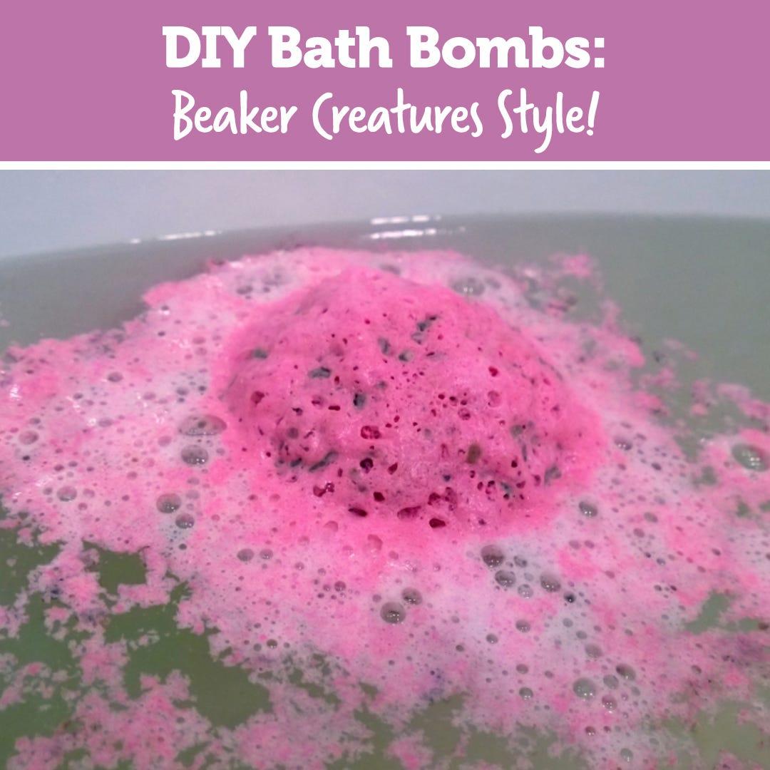 DIY Bath Bombs: Beaker Creature Style!