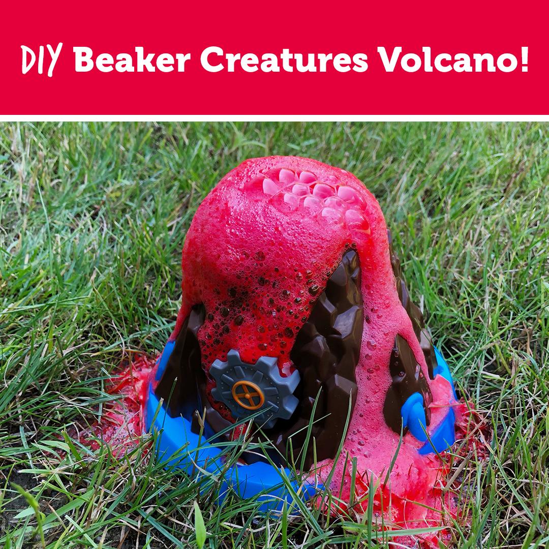 DIY Beaker Creatures Volcano!