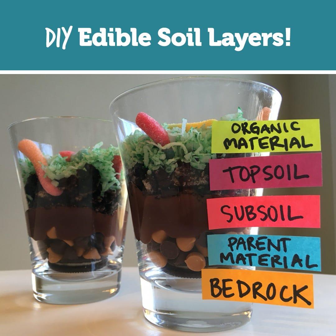 DIY Earth Day Edible Soil Layers