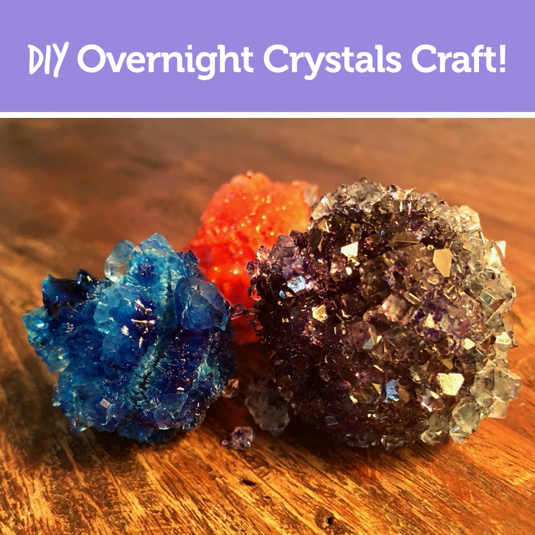 DIY Overnight Crystals Craft