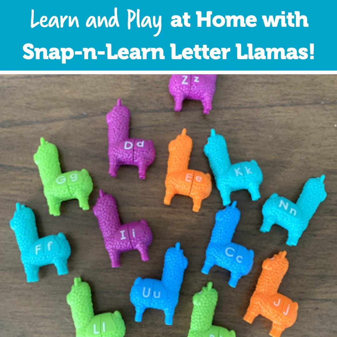 Learn and Play at Home with Snap-n-Learn Letter Llamas
