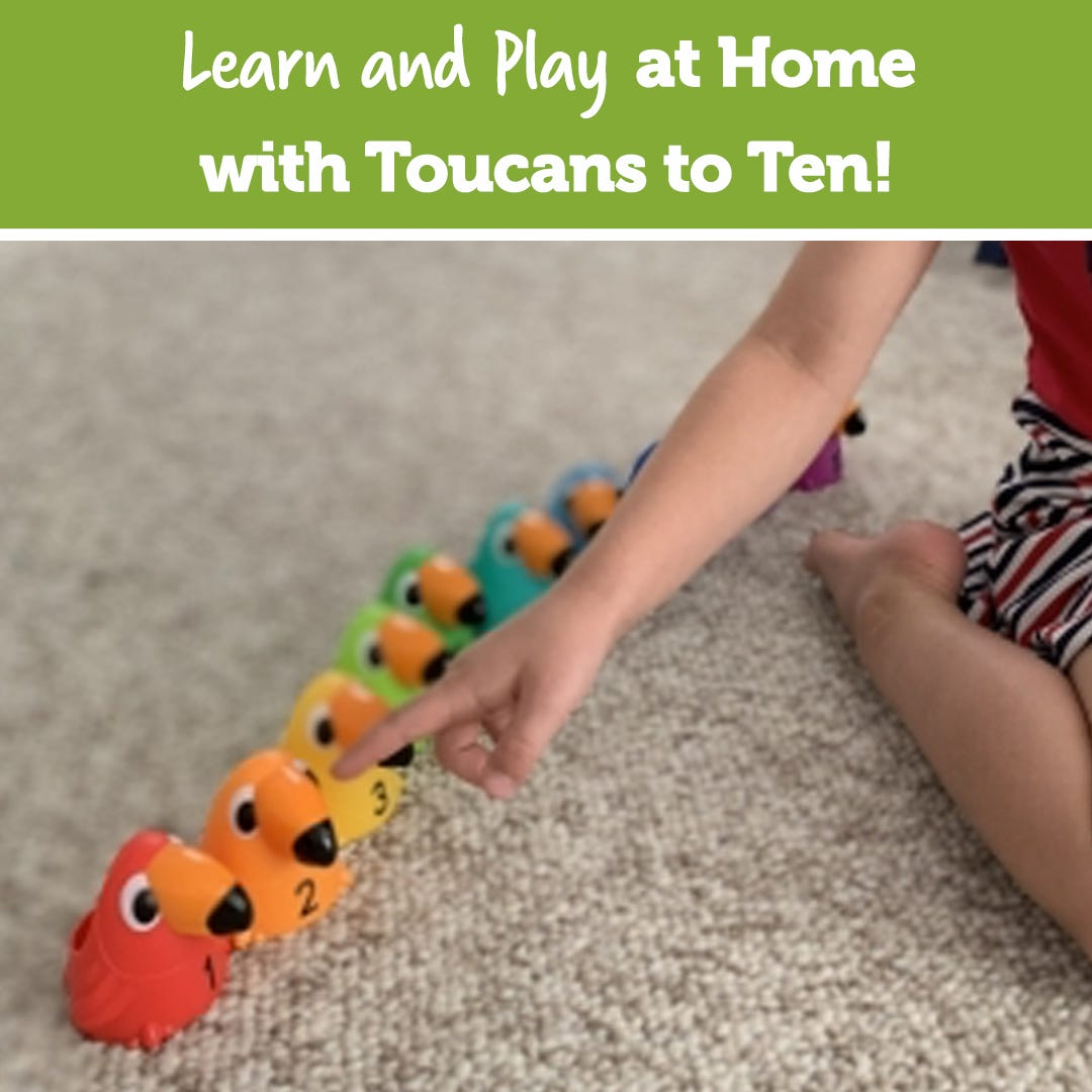 Learn and Play at Home with Toucans to Ten!