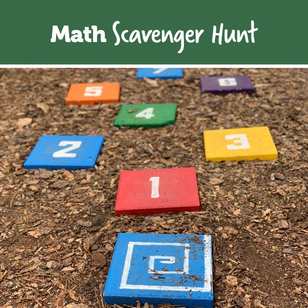 Indoor Math Recognition Scavenger Hunt