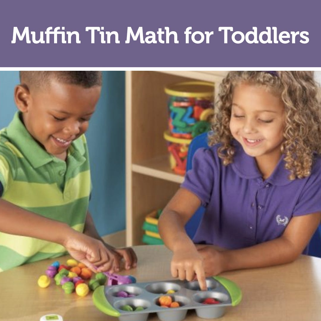 Muffin Tin Math for Toddlers