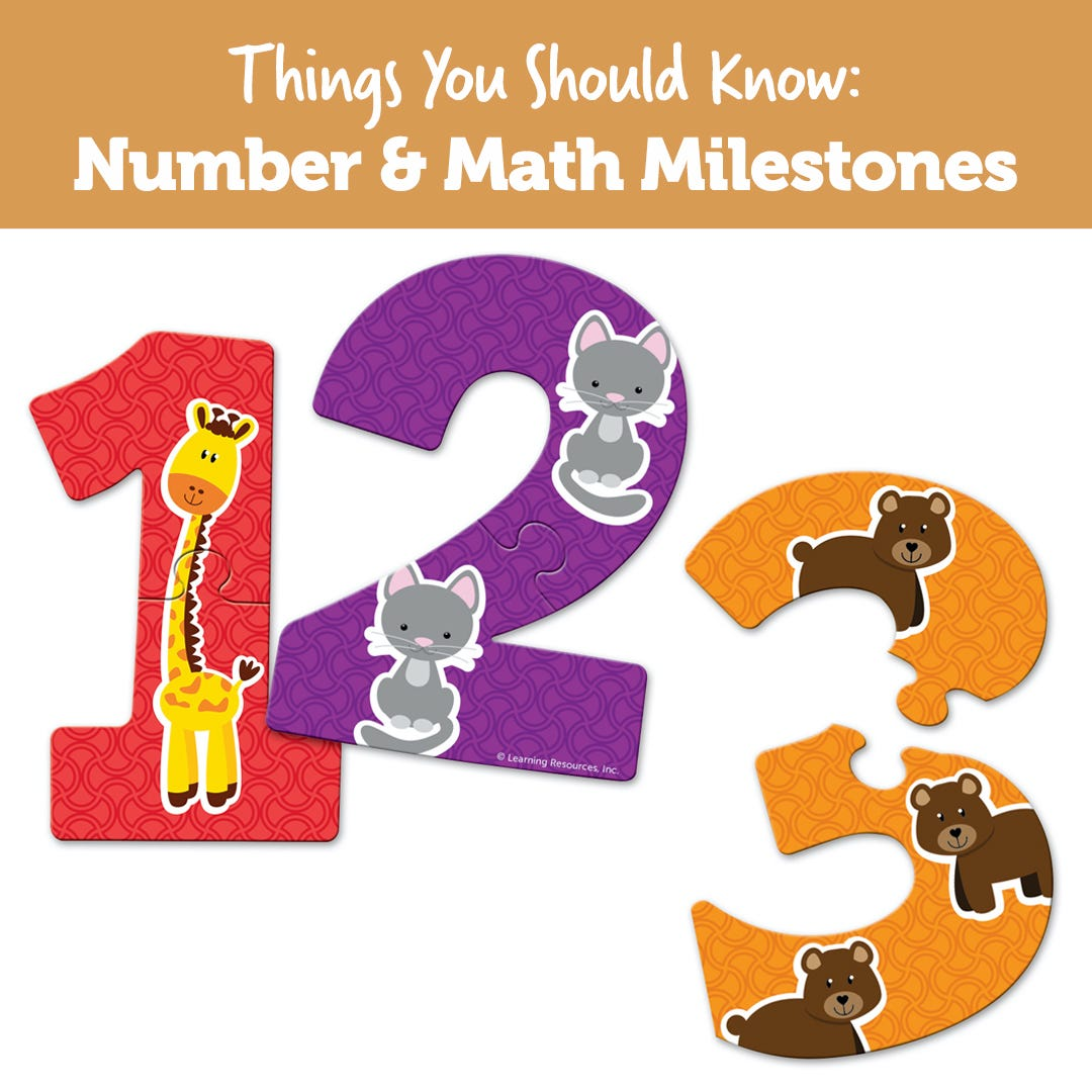 Things You Should Know: Number & Math Milestones
