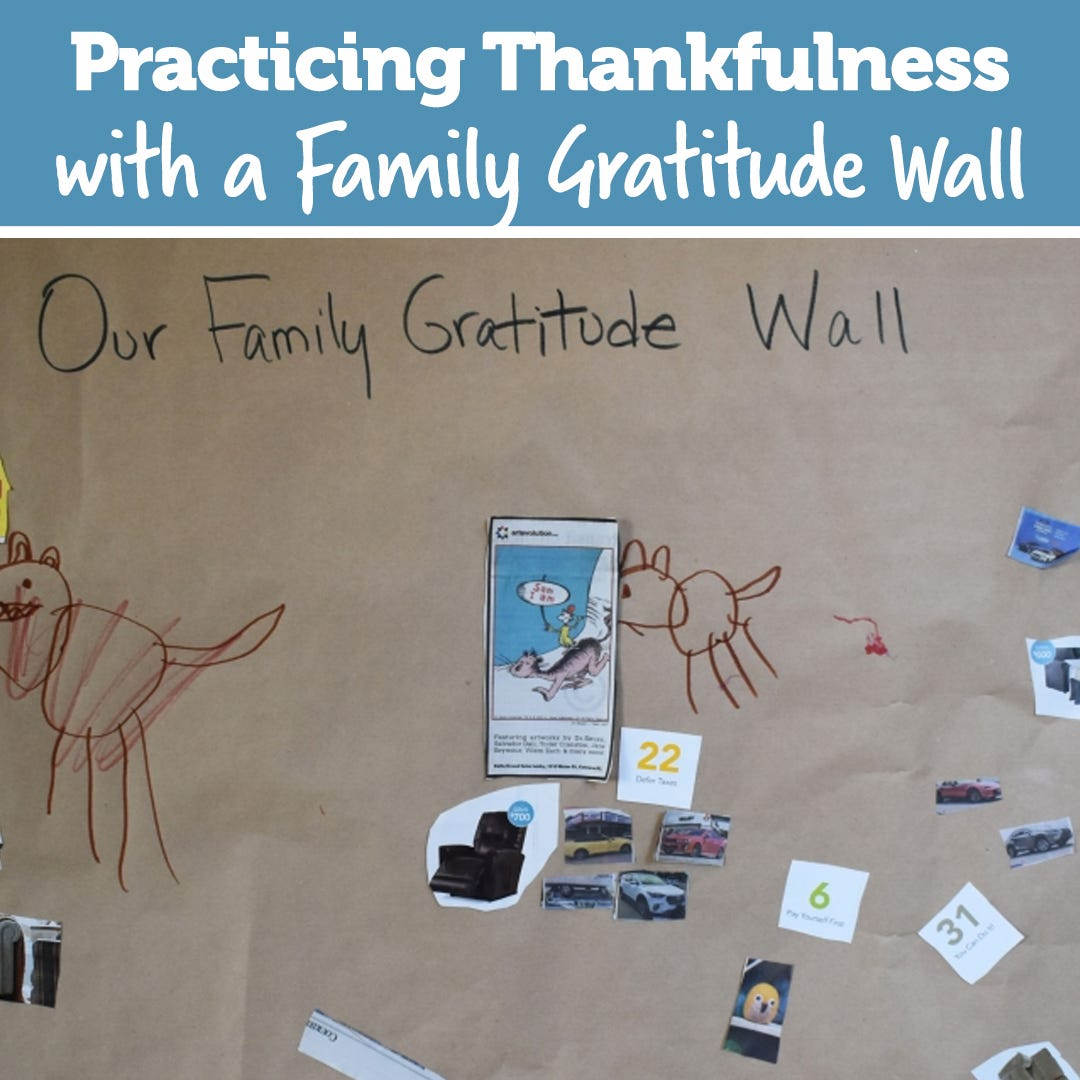 Practicing Thankfulness with a Family Gratitude Wall