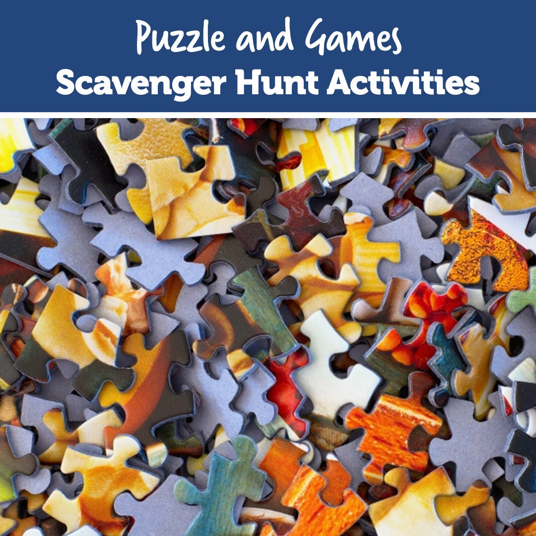 Puzzles and Games Scavenger Hunt Activities