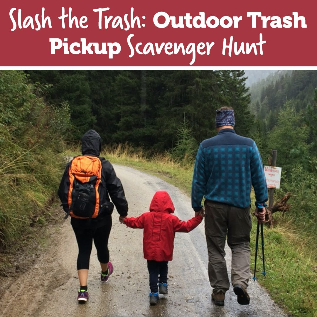 Slash the Trash: Outdoor Trash Pickup Scavenger Hunt