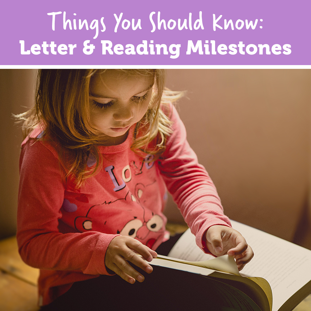 Things You Should Know: Letter & Reading Milestones