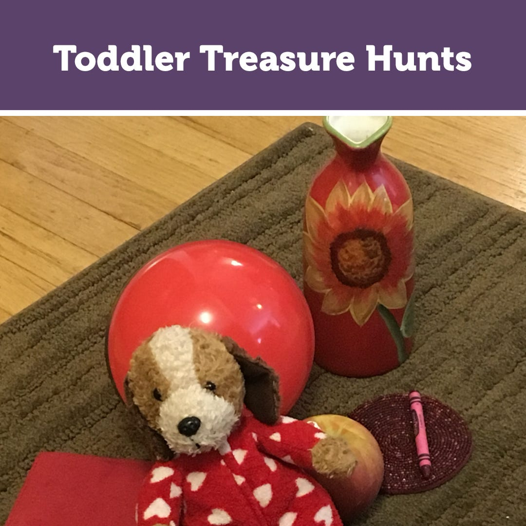 Toddler Treasure Hunts