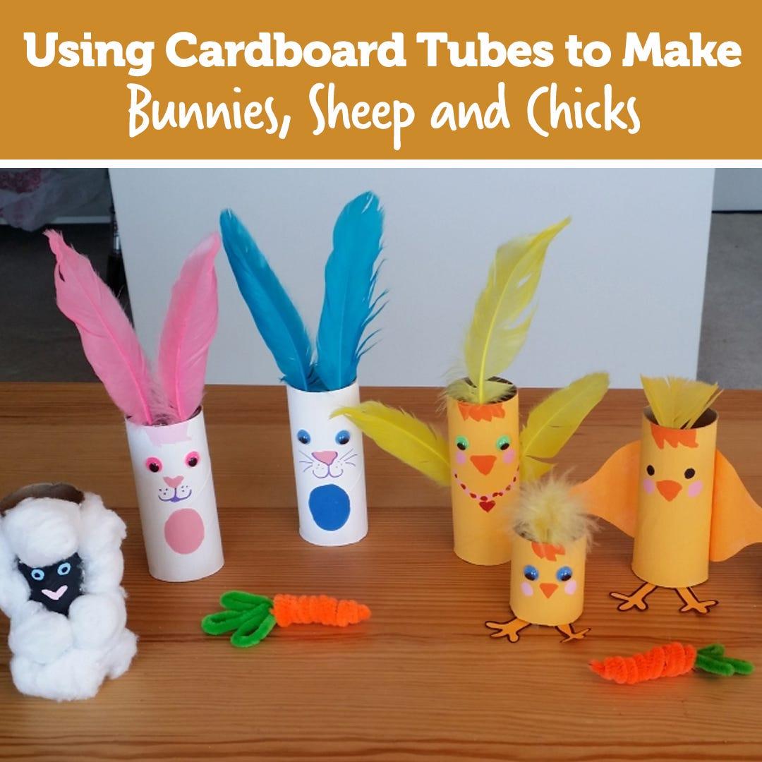 Cardboard Tube Bunnies Sheep and Chicks