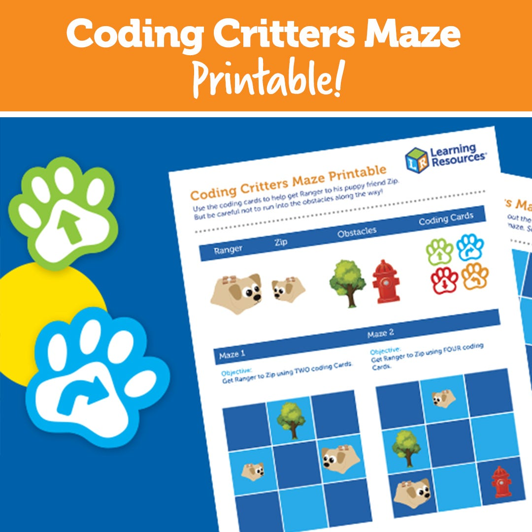 Coding Critters Maze Printable!