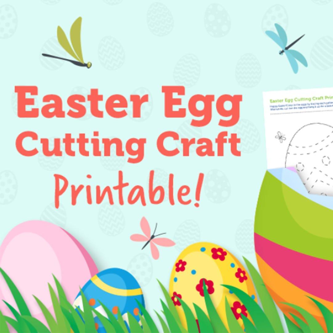 Easter Egg Tracing Printable