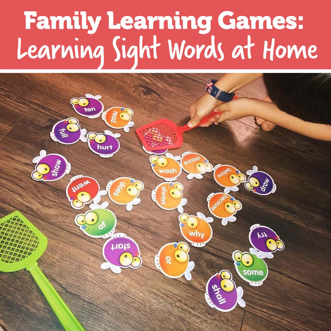 Family Learning Games: Learning Sight Words at Home