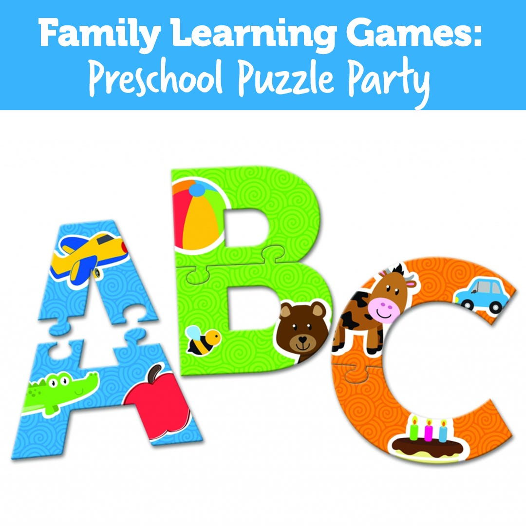 Family Learning Games: Preschool Puzzle Party!